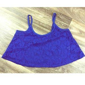 American rag blue crop top